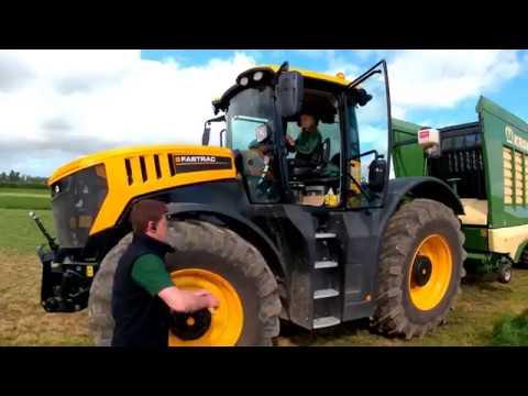 2018 JCB Fastrac 8330 Tractor With Krone Self Loading Wagon