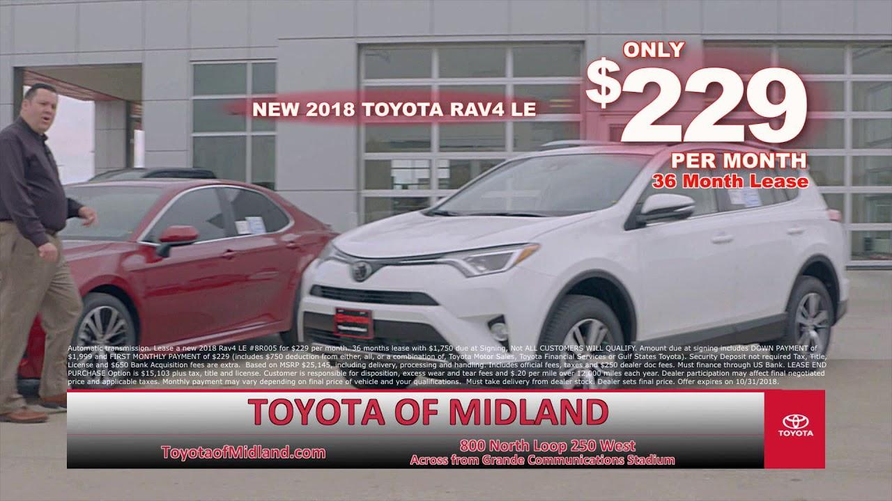 Toyota Of Midland >> Toyota Of Midland Score Corolla Camry Rav4