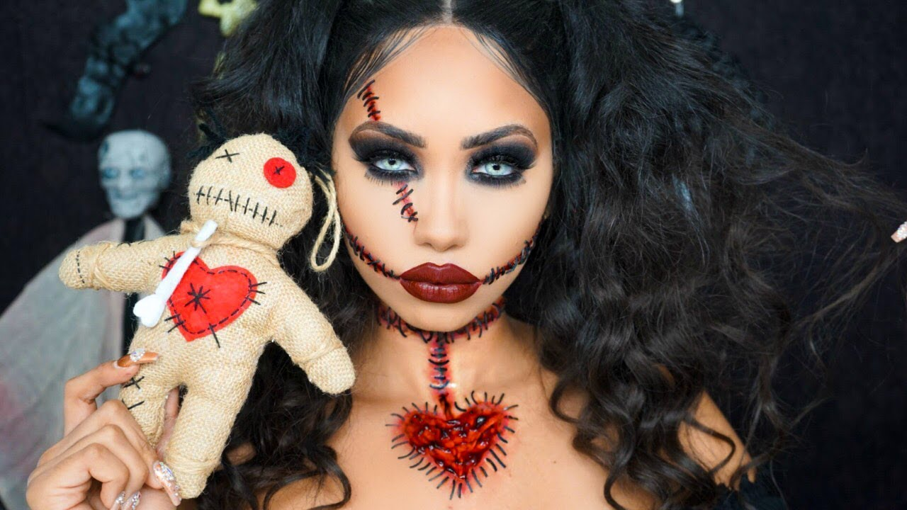 Voodoo doll halloween makeup tutorial melly sanchez youtube voodoo doll halloween makeup tutorial melly sanchez baditri Images