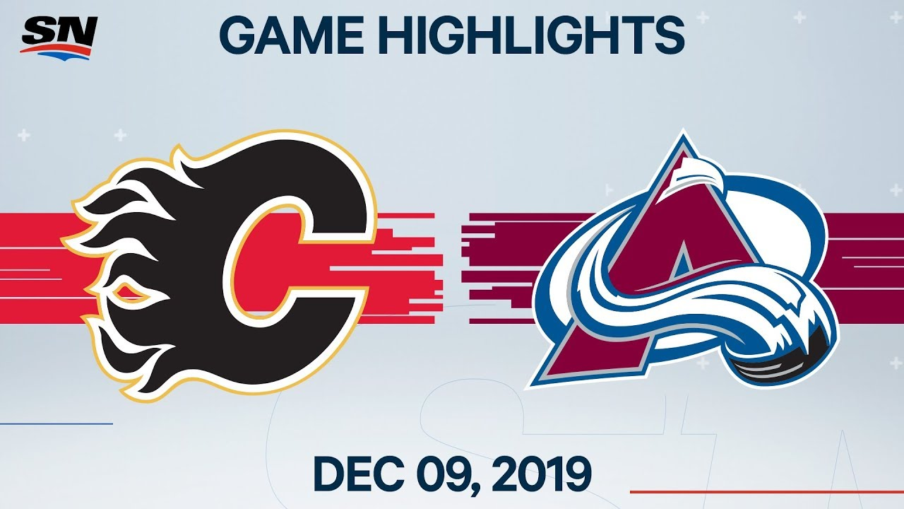 NHL Highlights | Flames vs. Avalanche – Dec. 09, 2019