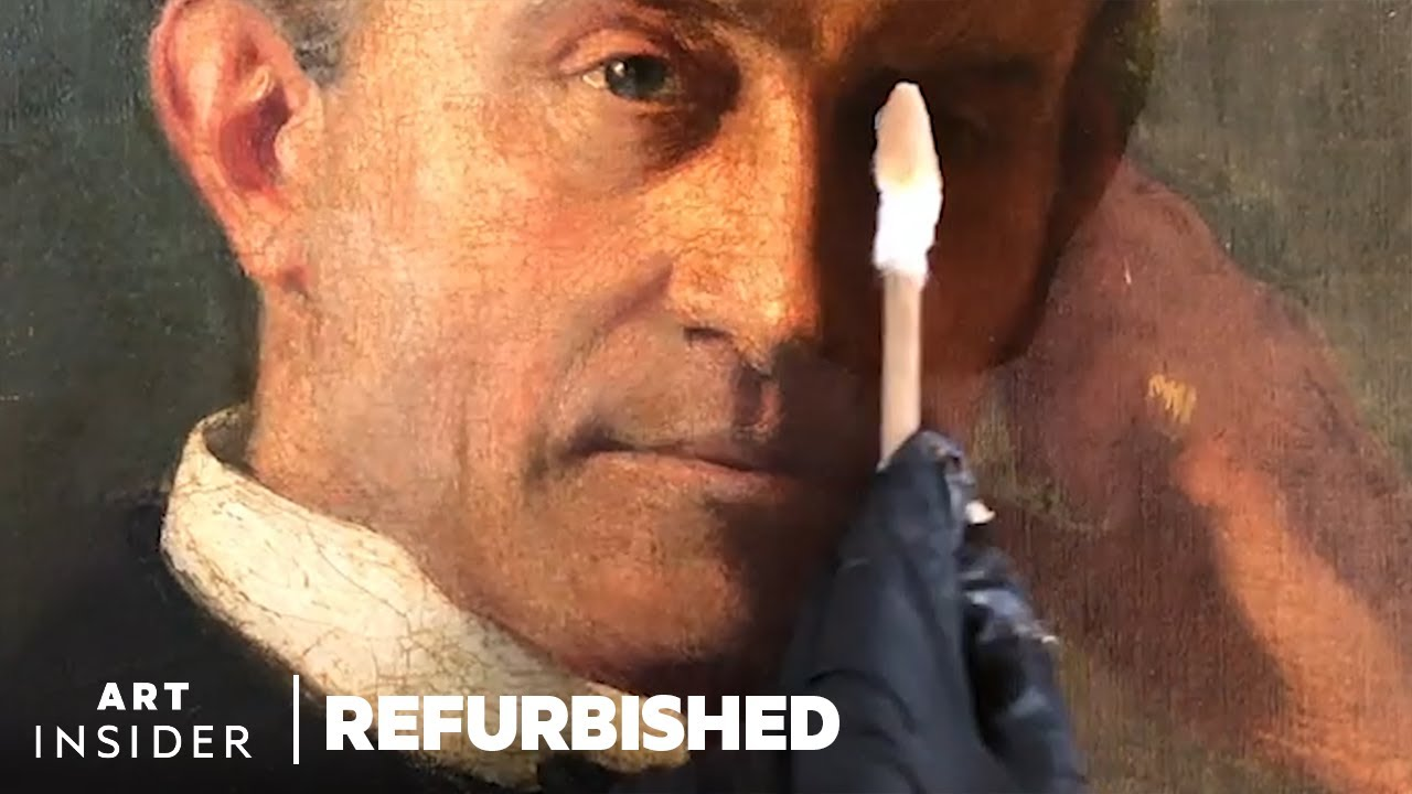 How A Professional Art Conservator Restores A 125-Year-Old Oil Painting | Refurbished