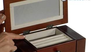 Addison Mahogany Wooden Jewelry Box  10 5w X 16h In - Product Review Video