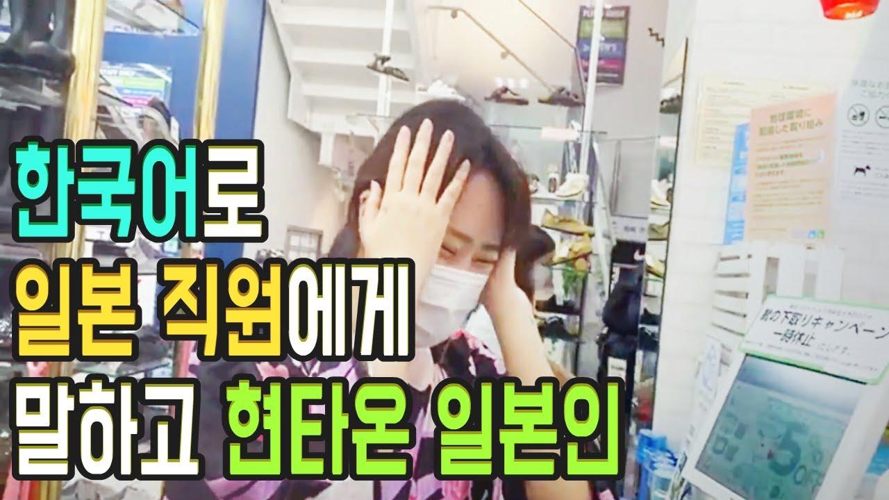 한국어로 일본 직원에게 말하고 현타온 일본 여캠의 실제 영상