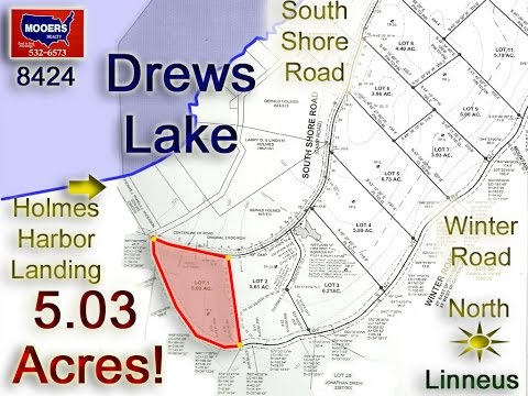 Over 5 Acres On Two Roads, Just Off Drews Lake, Linneus ME For Sale