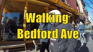 ⁴ᴷ Walking Tour of Brooklyn, NYC - Bedford Avenue from Williamsburg Bridge to Manhattan Avenue