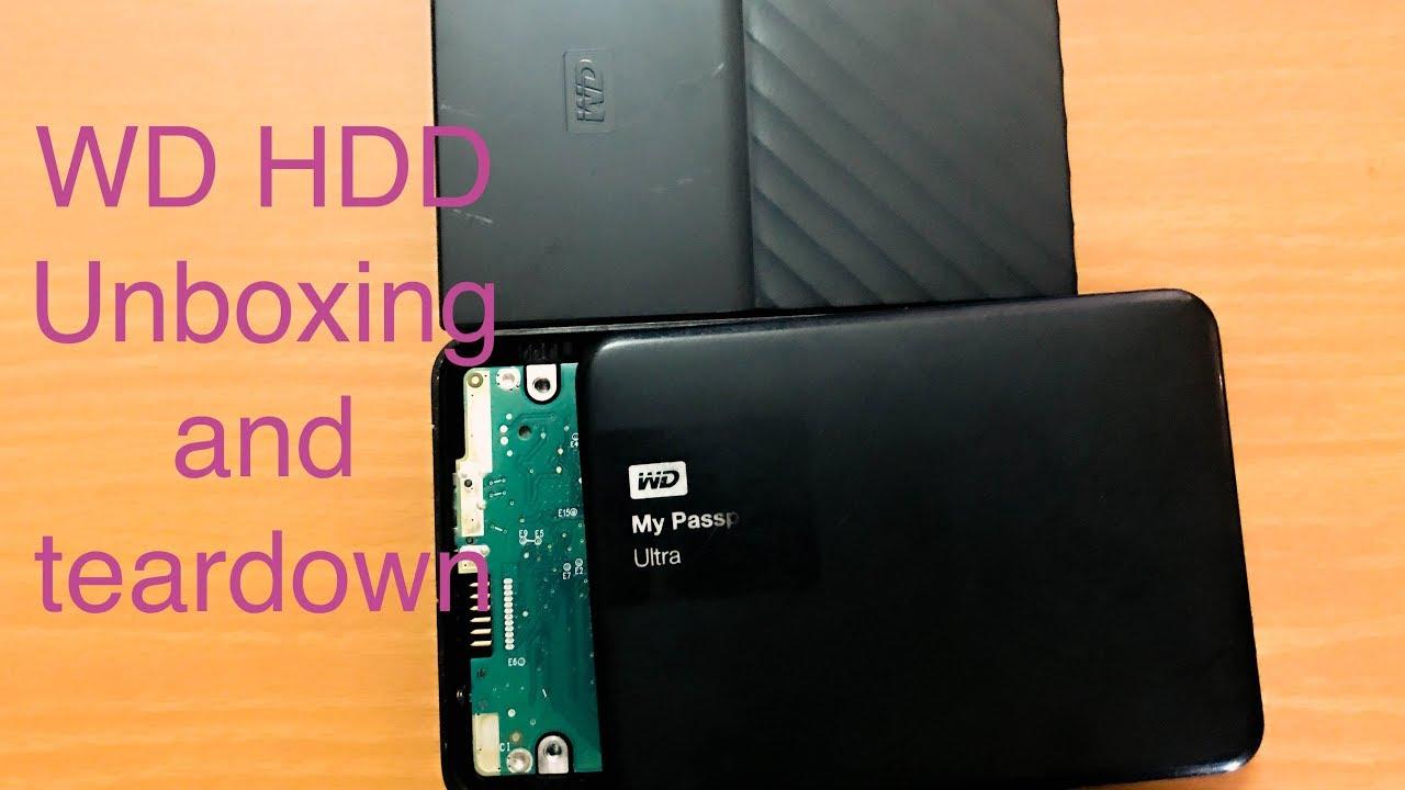 WD My Passport unboxing | WD and Seagate HDD teardown and comparison
