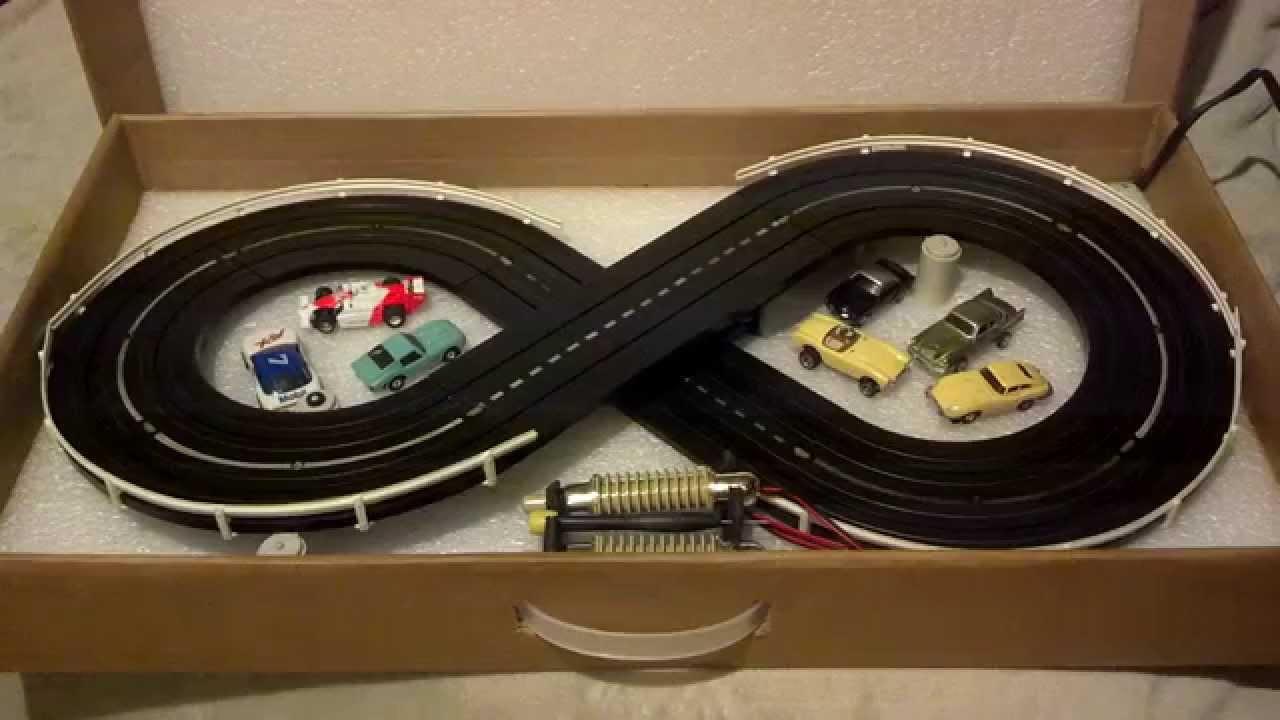 Ho Slotcar Track In The Box Aurora Thunderjets Youtube Slot Car Wiring
