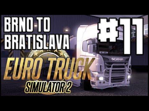 Euro Truck Simulator 2 - Ep. 11 - Brno to Bratislava - Driving at Night