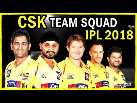 2018 VIVO IPL Chennai Super Kings Team Squad / CSK Players List / Predicted Squad