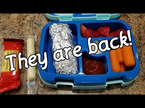 Week 22 School Lunches - How I Make My First Grader's Lunches - Bento Box Style - School Lunches