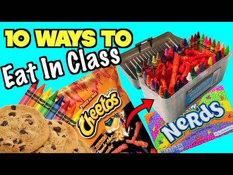 10 Clever Ways ToSneak Food and Candy Into Class - Back To School Life Hacks| Nextraker