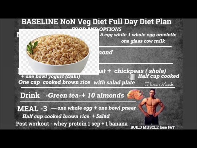FULL DAY EAING  Written DIET PLAN! Meal By Meal!! Both for  Non Veg& Vegetarian,