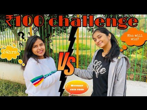 Living on ₹100 for 24 hours ft nikita kumari . Food challenge , 24 hrs challenge , 100rs challenge