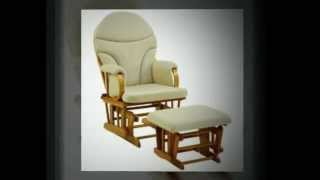Bow Back Glider Rocker And Ottoman