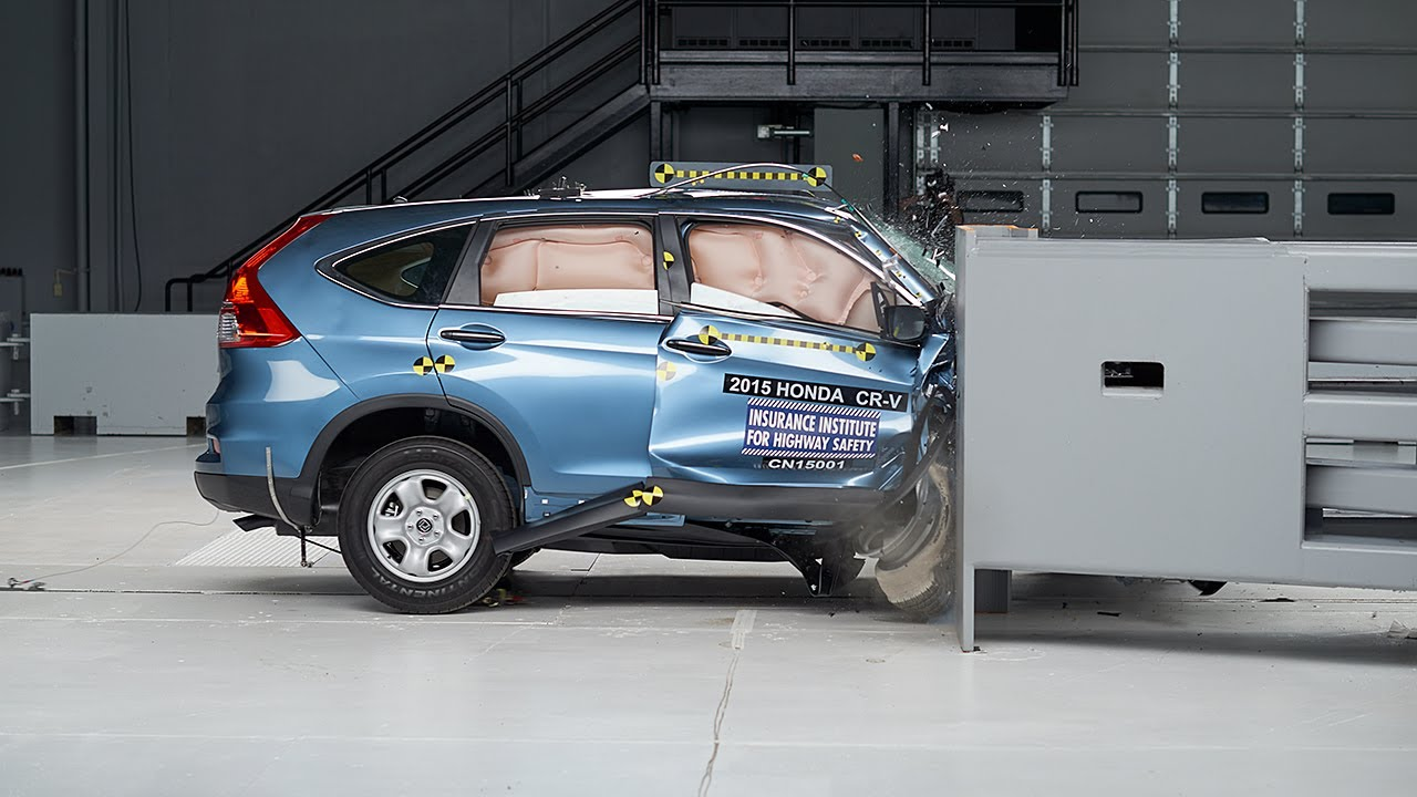 2015 honda cr v passenger side small overlap iihs crash for Iihs honda crv