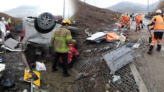 당진-영덕고속도로 승합차 전복…7명 사망·5명 부상 /…