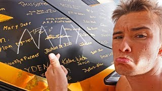 FAN SHARPIE GRAFFITIED ON THE CORVETTE! *WTF* (FunkFamTour Ep.6)