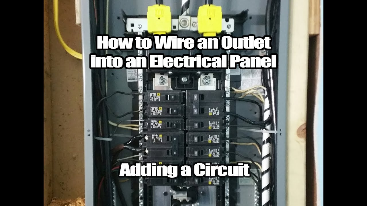 How To Wire A New Outlet Into Breaker Box Diy Tutorial Wiring Up