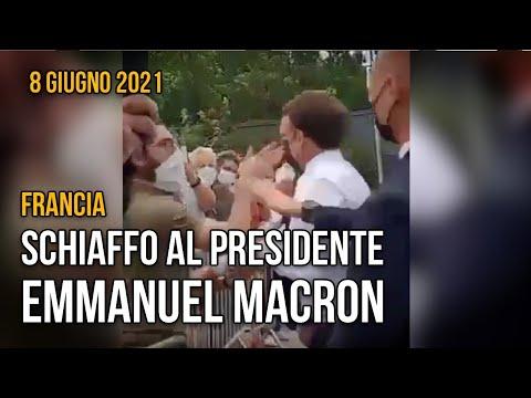 Schiaffo al presidente francese Macron
