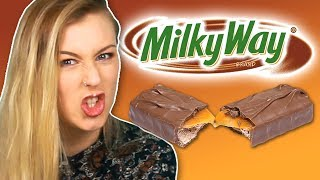 Irish People Try American Milky Way Chocolate