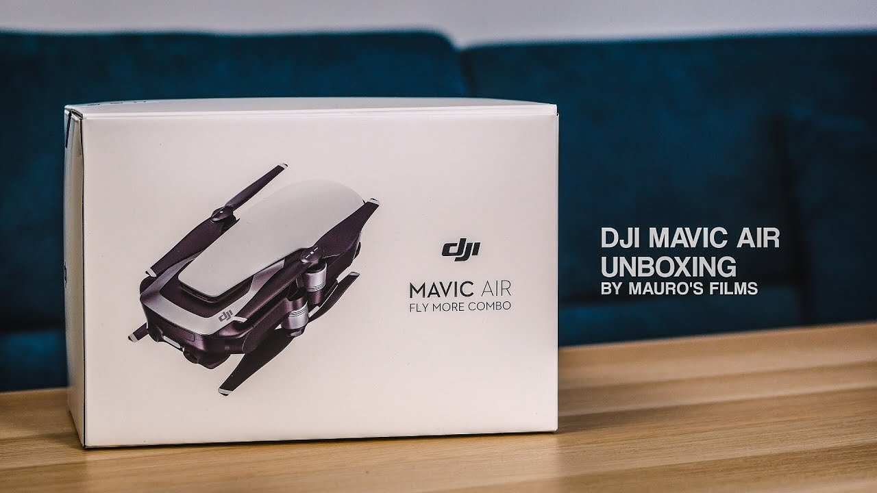 dji mavic air fly more combo unboxing onyx black youtube. Black Bedroom Furniture Sets. Home Design Ideas