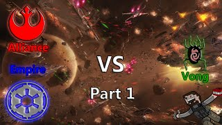 Rebels Alliance and Galactic Empire vs Vong (Hard) Part 1