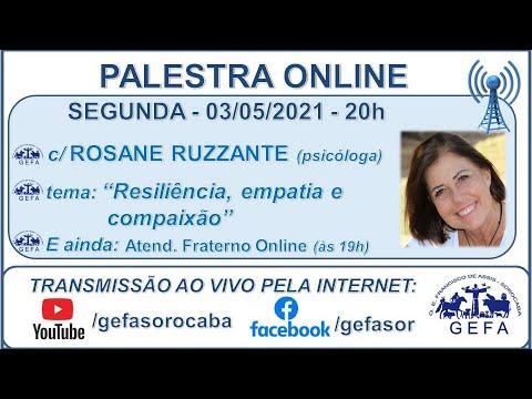 Assista: Palestra online - c/ ROSANE RUZZANTE (03/05/2021)