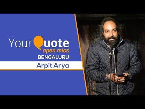 'Tum Kya Jano' & More By Arpit Arya   Urdu Shayari   YQ - Bengaluru (Open Mic 4)