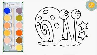 Мультик раскраска|Раскраска для детей гери|Учим цвета|Рисовалка TV