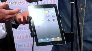 Musikmesse 2013 News: K&M präsentiert Universalhalter für Tablet-Pcs