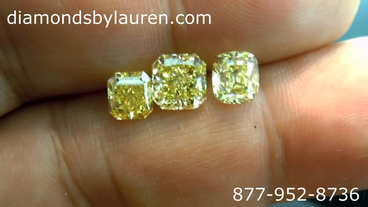 comparing a fancy vivid yellow diamond to fancy intense yellow