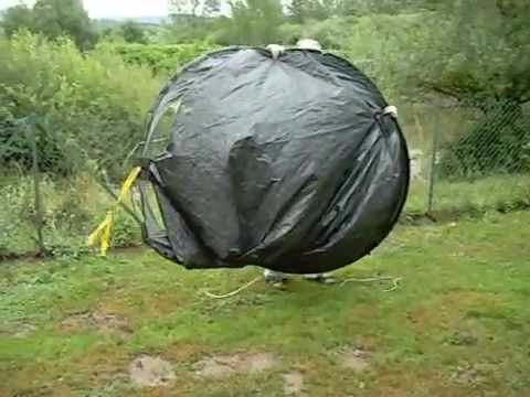 & How to put a Quechua Pop Up Tent Down - YouTube