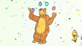 How To Draw Masha and The Bear, Coloring Pages for Kids - Teach ...
