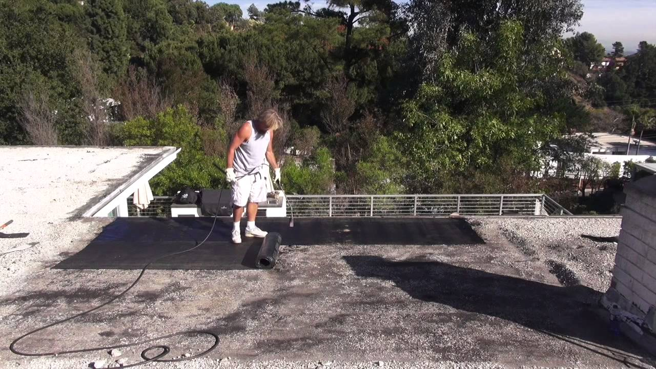 How To Repair A Gravel Rock Roof With Torch Down Hollywood Roofing  Contractors   YouTube