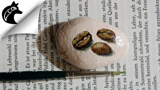 Speed Painting Rock painting of coffee beans