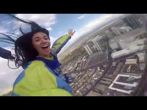 SKYJUMP STRATOSPHERE!!! LAS VEGAS, NEVADA!!! (HD)
