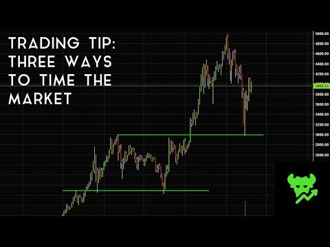 Trading Tip #5: Three Ways To Time The Market