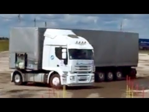 THE BEST PARKING SKILLS  a Volvo Truck Driver