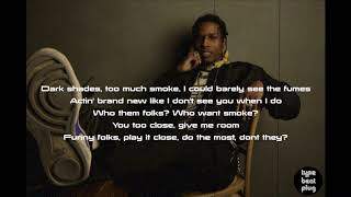 A$AP Rocky - Bad Company ft. BlocBoy JB ( LYRICS )