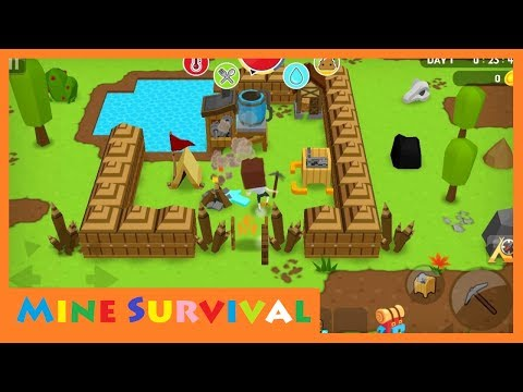 Review best game   Mine Survival   100 days challenging forest life   LH2 Kids game