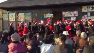 2016年12月17日 木山仮設クリスマスコンサート 学校の階段.