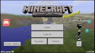 ¡Mírame jugar Minecraft PE!