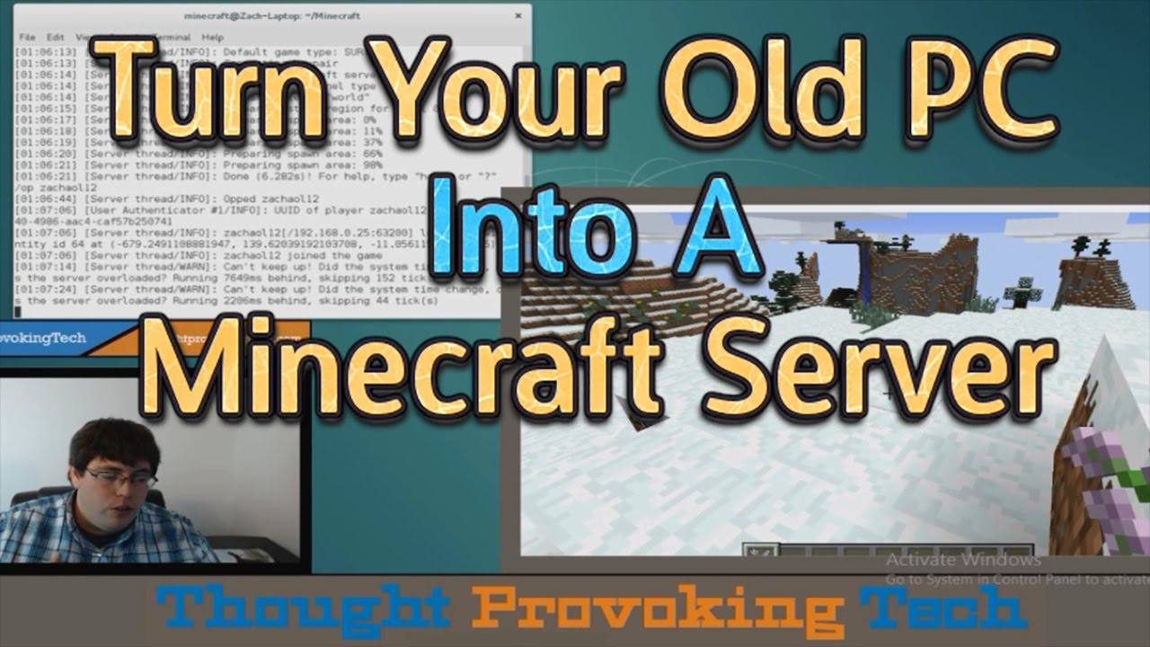 How To Turn Your Old PC Into A Minecraft Server!
