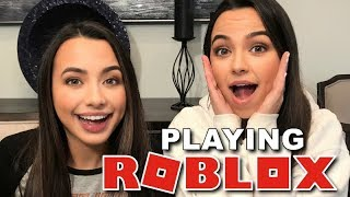 Playing ROBLOX Live! - Merrell Twins Live
