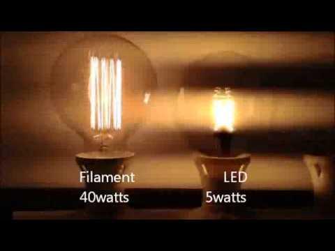 Vintage Edison Vs LED - YouTube 99e5e1646c