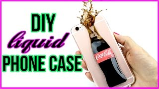DIY Liquid Soda Phone Case!