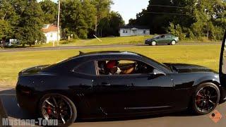 Southern Boyz ridin' dirty with Rebel Flag in badass LS3 Camaro SS lol