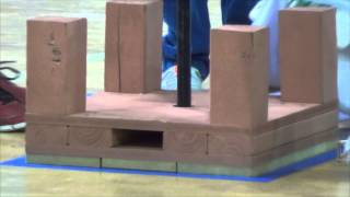 Odyssey of the Mind 2014 Houston regionals, balsa structure crush, two teams