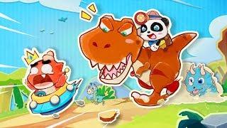 ★NEW★パンダ恐竜ワールド | 子供向け知育アプリ| 赤ちゃんが喜ぶアニメ | 動画 | ベビーバス| BabyBus