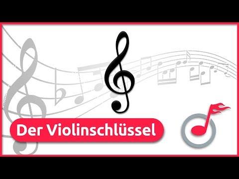 Der Violinschlüssel im Notensystem